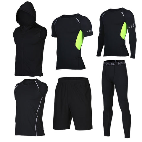 Quick Dry Set of 6 pieces Compression Sport Suits