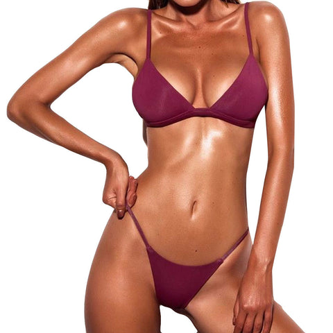 Acerra Push-Up Padded Bra Bikini Set