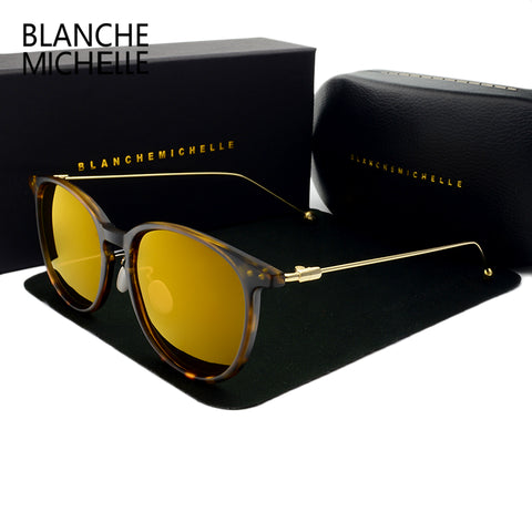 New 2018 Blanche Michelle Polarized Round sunglasses