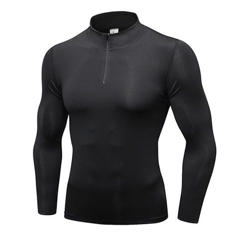 Quick Dry Sport Rash Guard with Zipper