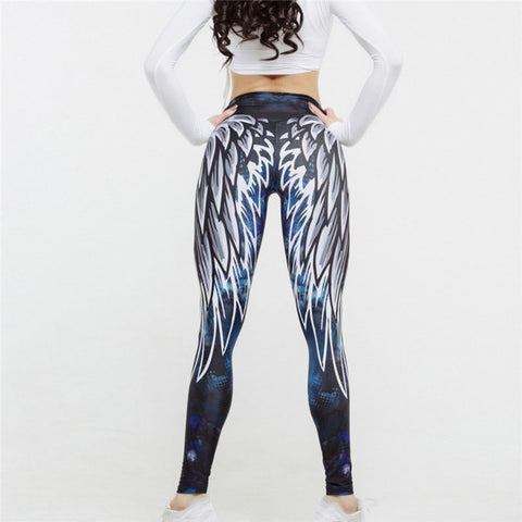 Sexy Leggings Yoga Pants with Wings Design by Hayoha from Bak2Bay6.com