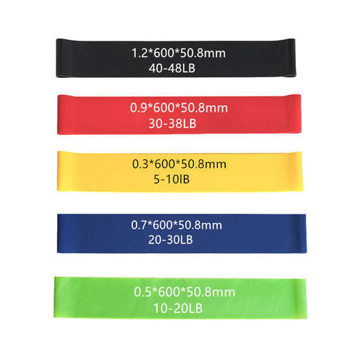 Set of 5 Pcs Fitness/Yoga Resistance Bands