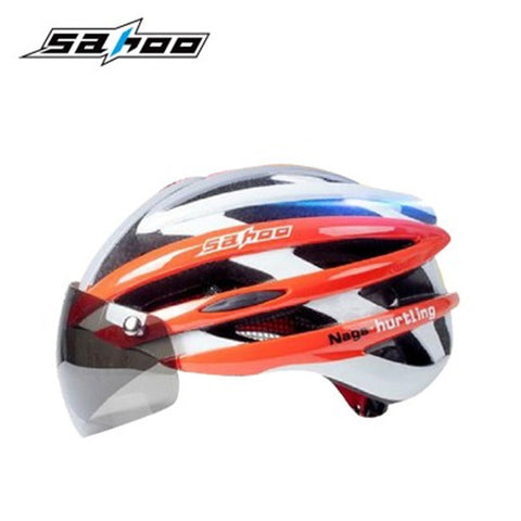 New Ultralight Integrally-Molded Cycling Helmet with Magnetic Goggles