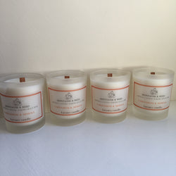 Luxury box of 4 votive Soy Wax Candles