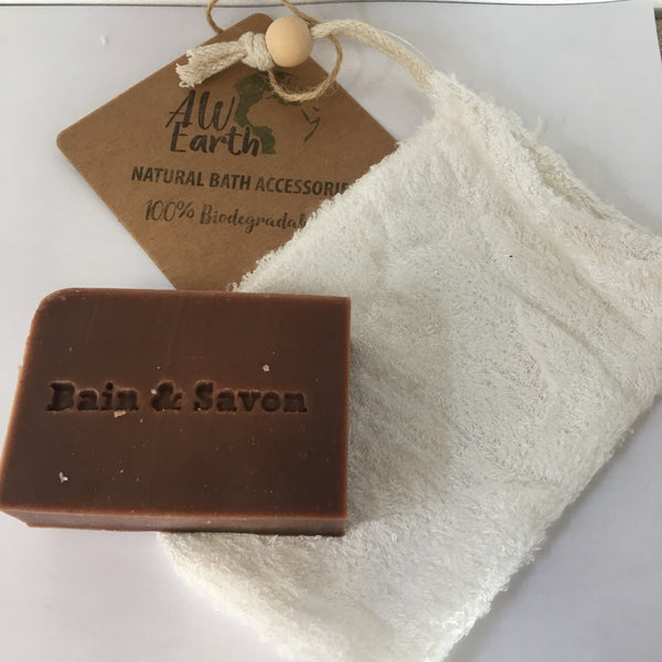 All Natural Bamboo soap Bag