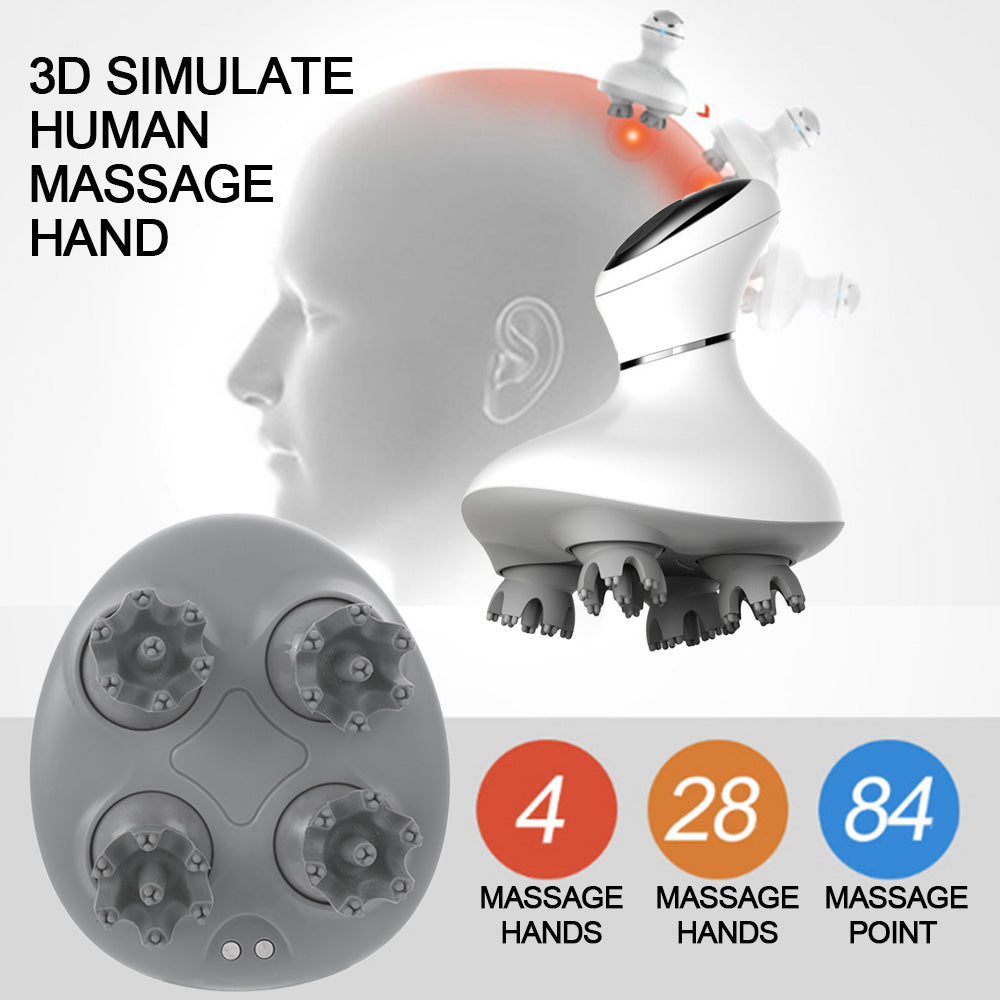 4D Wireless Smart Scalp Head Massager