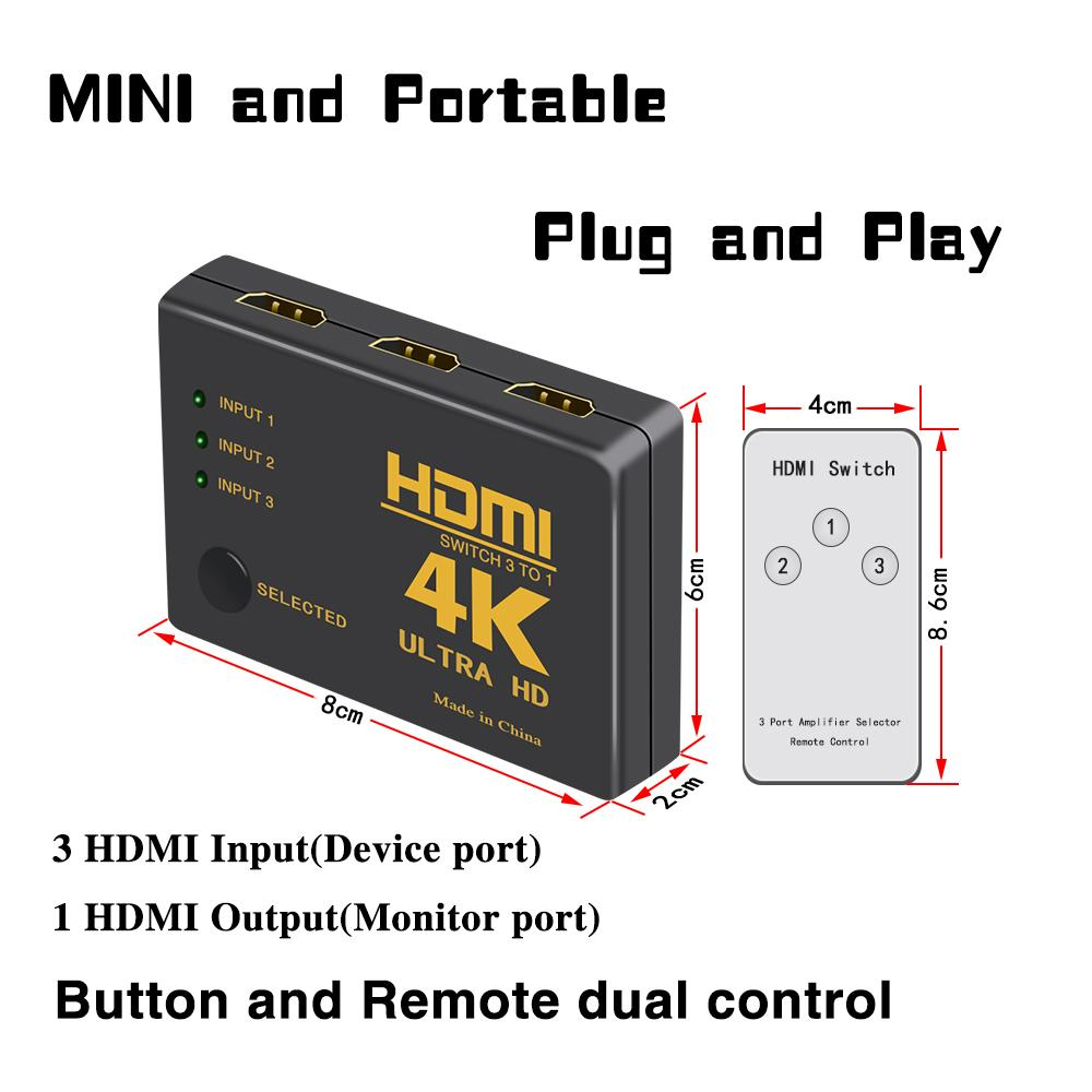HDMI Switch Splitter Box