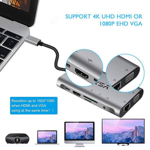 USB HUB 10 in 1 Thunderbolt 3 Type C Adapter Dock (Original)