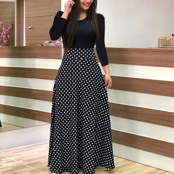 Autumn And Winter New Pattern Goods Round Neck Long Sleeve pregnancy Clothes  Longuette pregnant dress elegant 3a15f3175b71