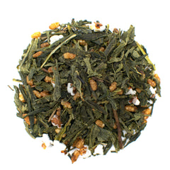 genmaicha popped rice green loose leaf tea