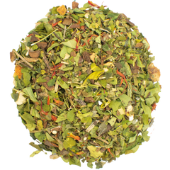jasmine green loose leaf tea with flowers