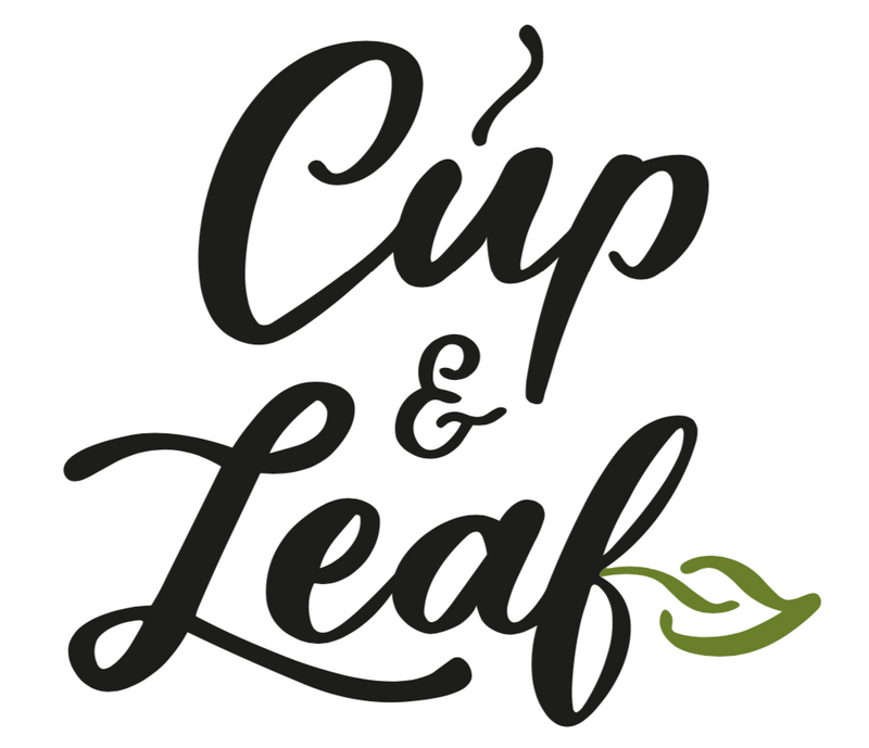 Cup & Leaf Sticker