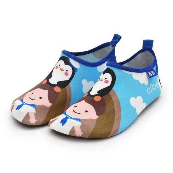 Blue Girl Kids Water Socks