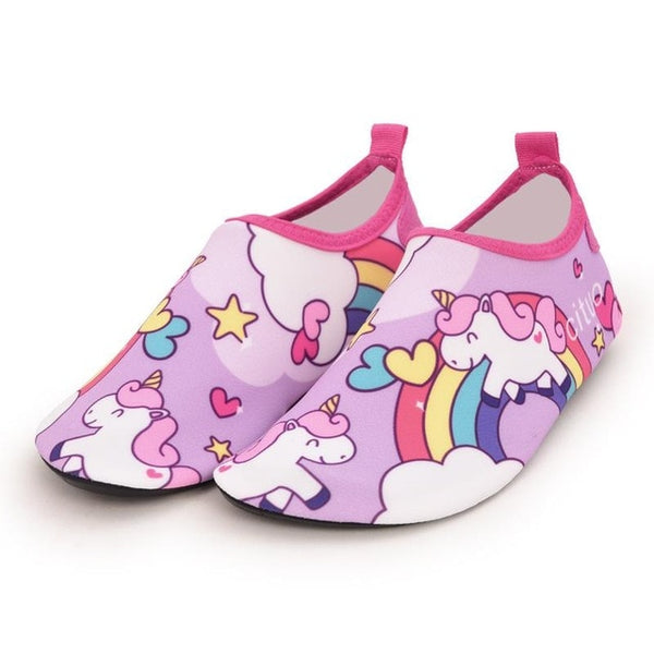 Unicorns & Rainbows Kids Water Socks