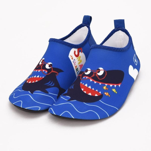 Dark Blue Shark Kids Water Socks