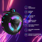 SVN Sound-Steve Aoki NEON 150 Portable Bluetooth Speaker- Waterproof, LED Lights, Compact Travel Mini Design, Extra Loud Bass Sound- Wireless Universal Pairing with iOS/Android Smartphones
