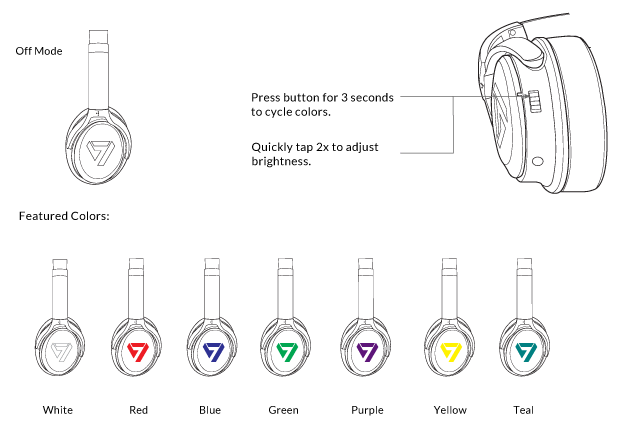Neon 100 Bluetooth Headphone Featured Color