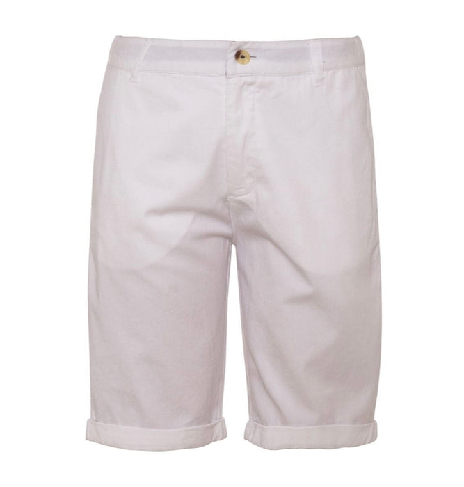 COTTON WHITE SHORTS W/ CUFF - Sayings Kids