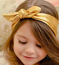 Load image into Gallery viewer, KNOTTED GOLD METALLC HEADBAND - Sayings Kids