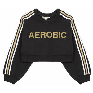 AEROBIC CROPPED SWEATSHIRT - Sayings Kids