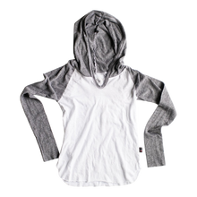 Load image into Gallery viewer, L/S HOODED CONTRAST TOP - Sayings Kids