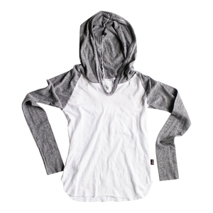L/S HOODED CONTRAST TOP - Sayings Kids