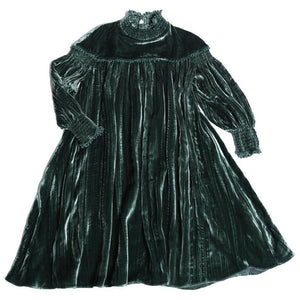 ANTOINETTE SMOCKED GREEN FROCK ACACIA DRESS