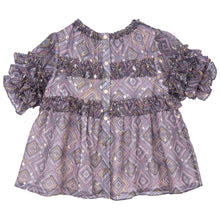 Load image into Gallery viewer, HILLARY SHORT SLEEVE FRILL TOP