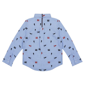SEBASTIAN EMBROIDERED LONG SLEEVE BUTTON DOWN SHIRT