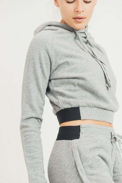 Lounging Around Cropped Hoodie