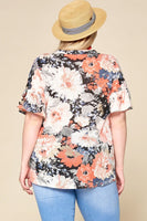 Floral Button Up Tee