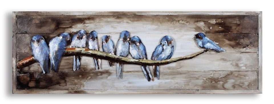 Birds on a Tree Branch Frame
