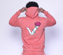 "Load image into Gallery viewer, LOTUS V HOODIE ""CORAL"""