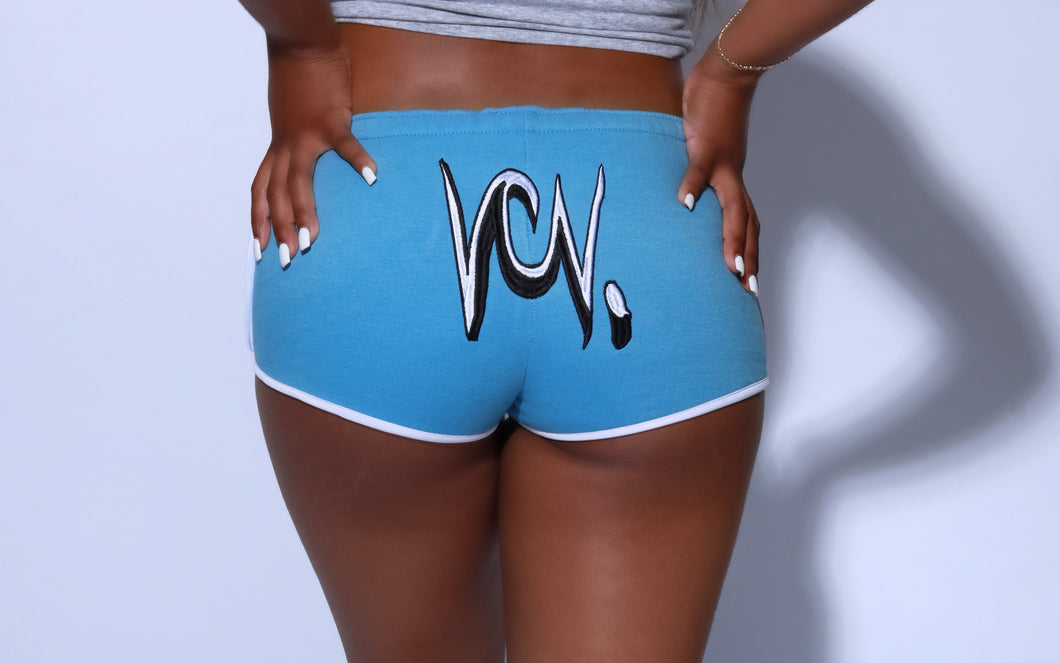"BOOTY SHORTS ""CAROLINA BLUE"""