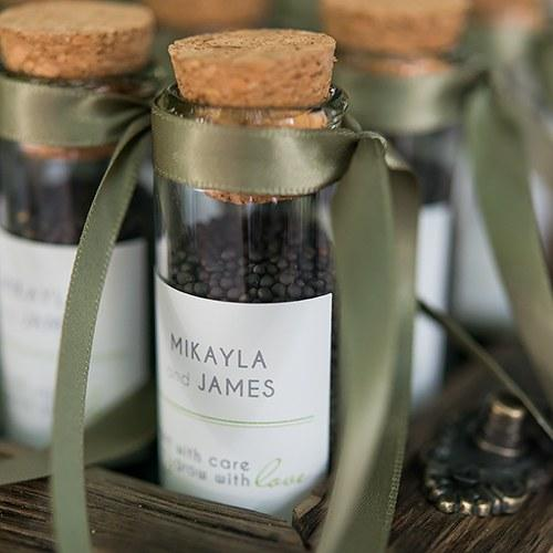 Small Glass Bottles with Cork Stopper