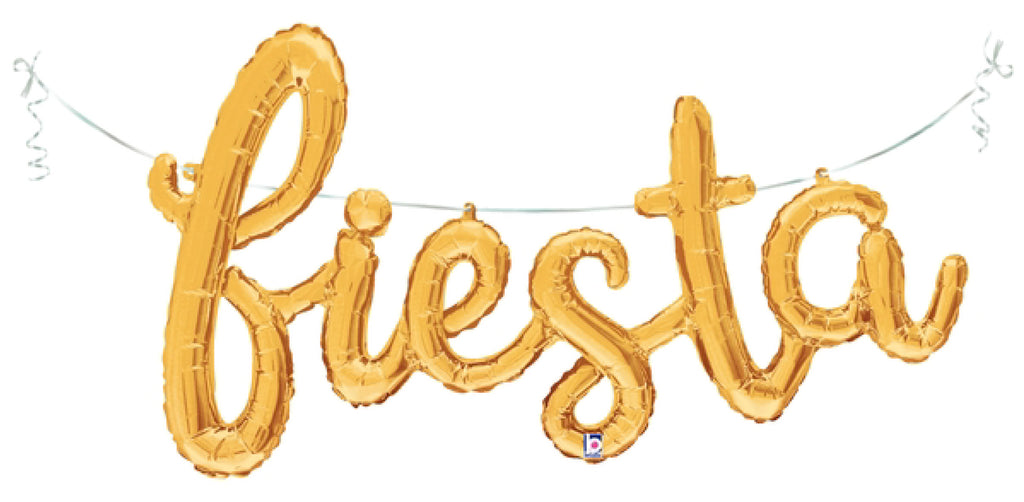Fiesta Decorations Gold Foil Balloon