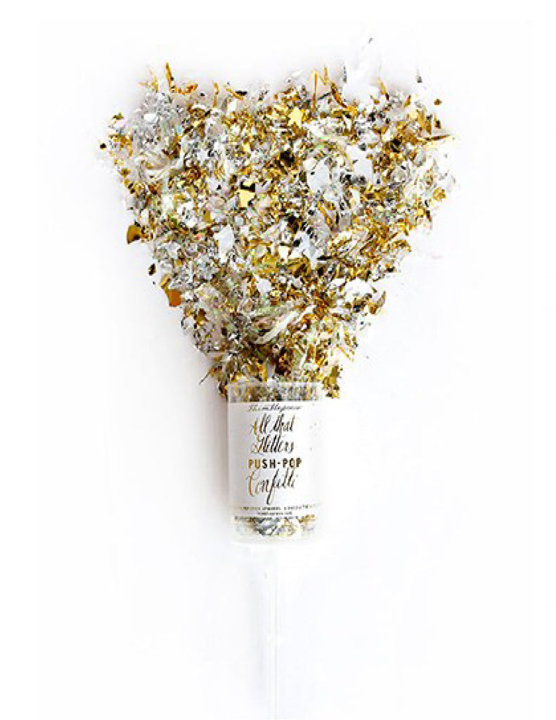 Metallic Gold & Silver Push Pop Confetti