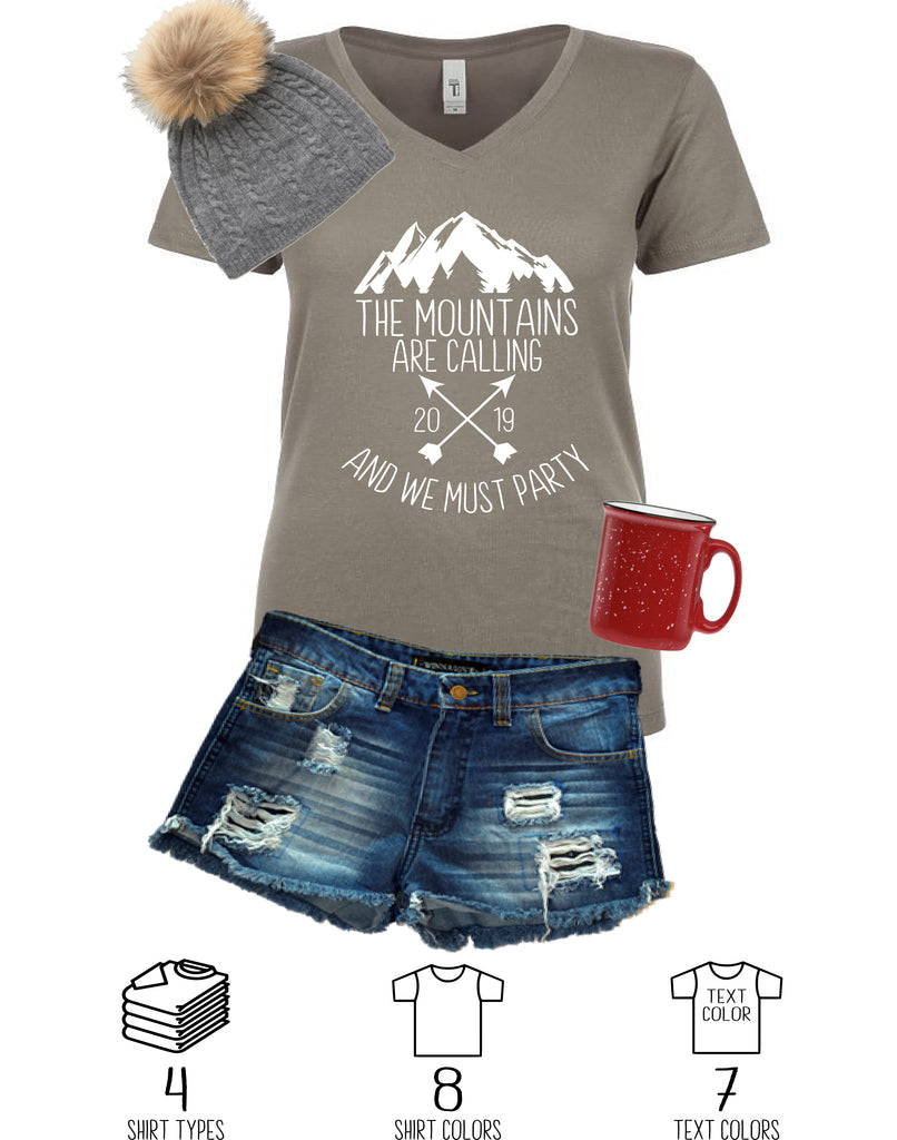 The Mountains Are Calling Party Shirt