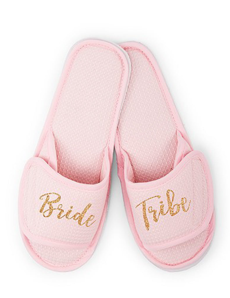 Bride Tribe Waffle Wedding Slippers