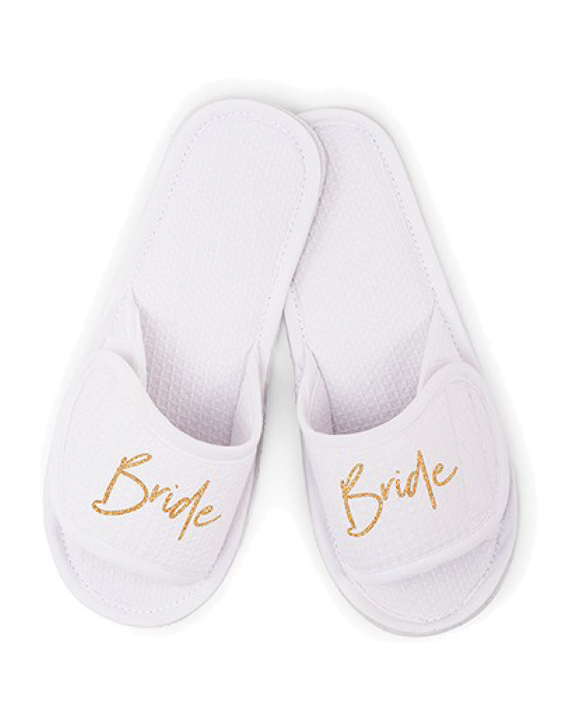 Wedding Waffle Spa Slippers