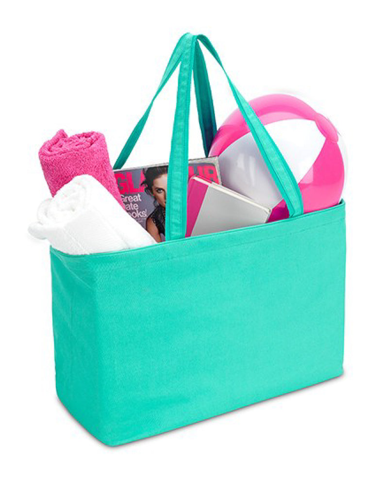 Extra Large Turquoise Beach Tote