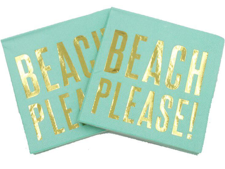 Beach Please Paper Napkins