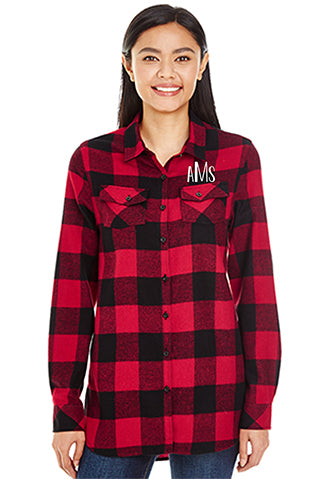 Custom Buffalo Red And Black Plaid Shirt