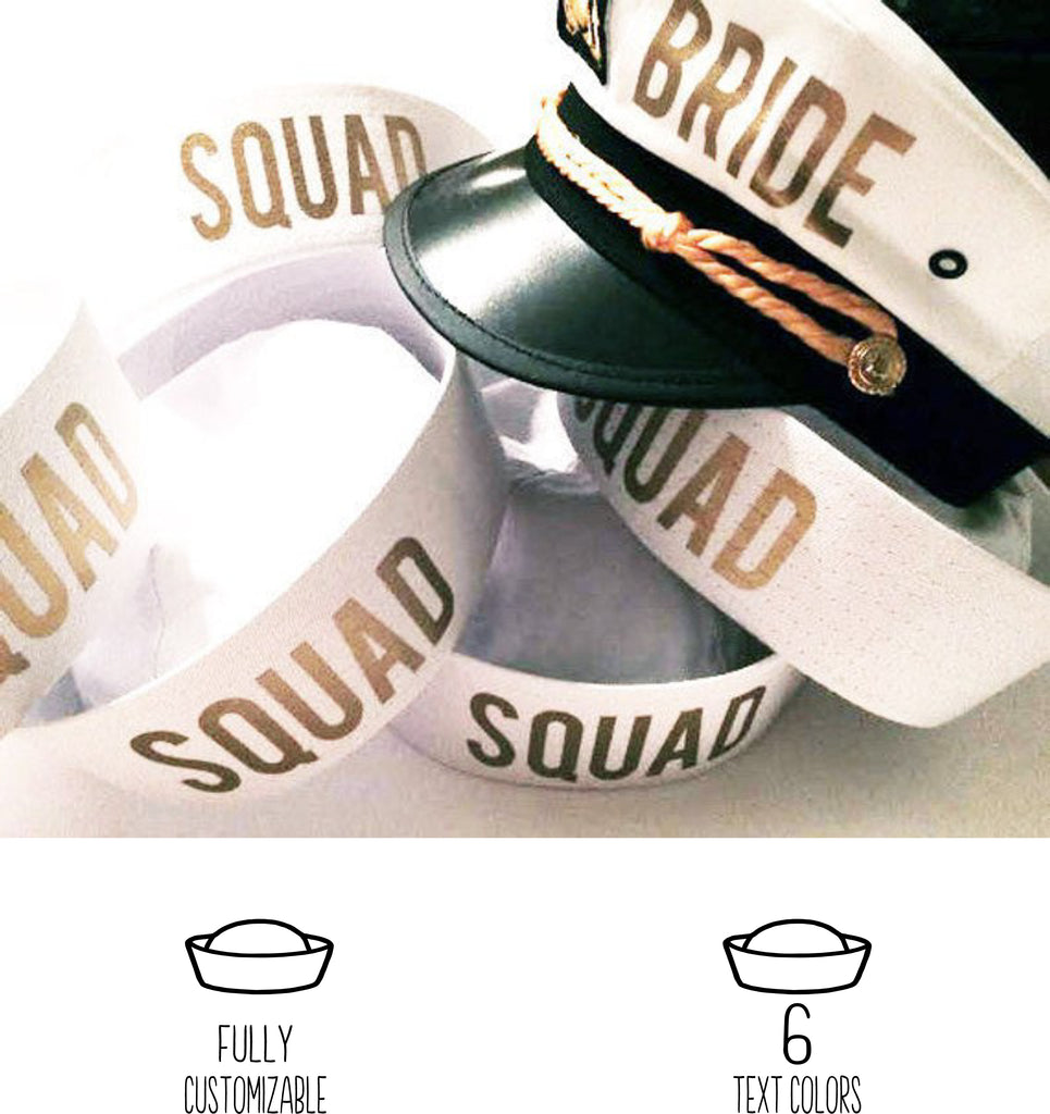 SQUAD Bachelorette Sailor Captain Hats