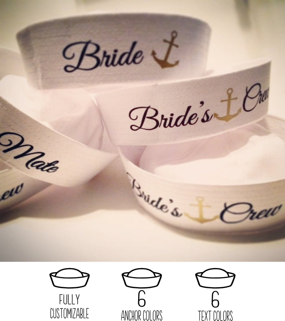 Bride's Crew Bachelorette White Sailor Hat