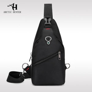 Korea Style Chest Bag Waterproof Shoulder Bag Black Shop&Smile PH - The Store for Happy Filipino Shoppers