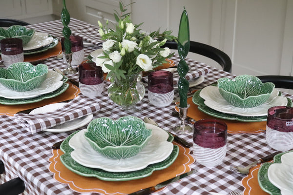 tablescape with cabbageware