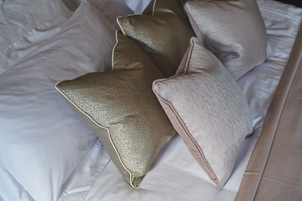 Bronze silk cushion luxury homeware throw blanket bed blanket superking king large