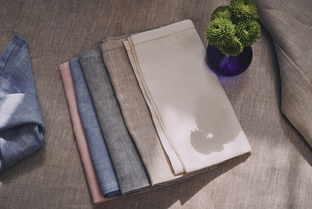 irish linen chambray Irish linen pastel napkins high quality wedding present gift