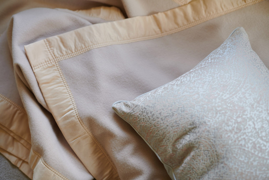 satin trim atkinson blankets merino wool champagne throw bed blanket superking extra large king
